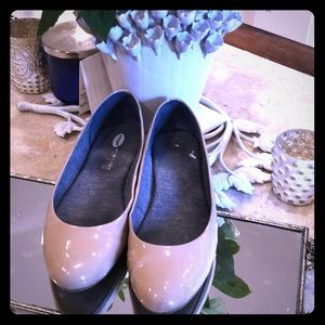 Nude Patent Leather Flats like walking in a cloud!